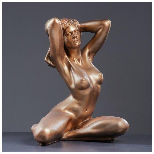 Фигура Девушка сидя Пробуждение 31х41х52см бронза 3893316 фигура девушка сидя кашпо на плече бронза 58см 302969
