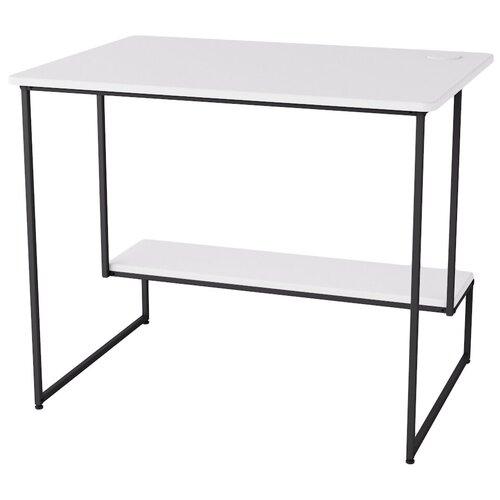 Стол письменный Скилл белый/черный