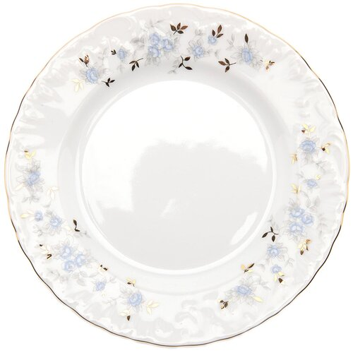 Cmielow Тарелка обеденная Rococo Голубой цветок 25 см тарелка cmielow rococo плоская 25см фарфор 0031190 rococo