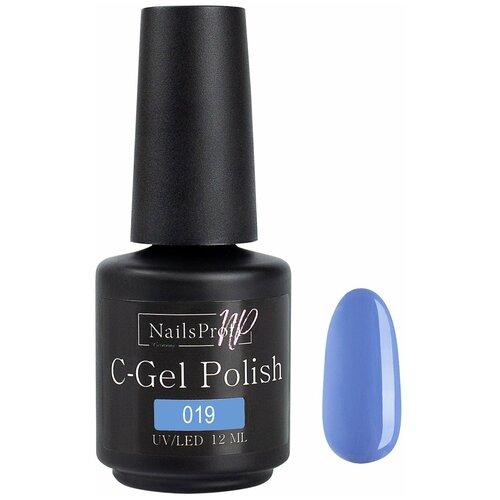 Купить Гель-лак для ногтей NailsProfi C-Gel Polish, 12 мл, 019