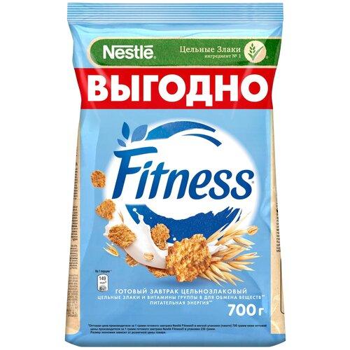 Готовый завтрак Nestle Fitness хлопья из цельной пшеницы, пакет, 700 г nestle gold snow flakes готовый завтрак 300 г