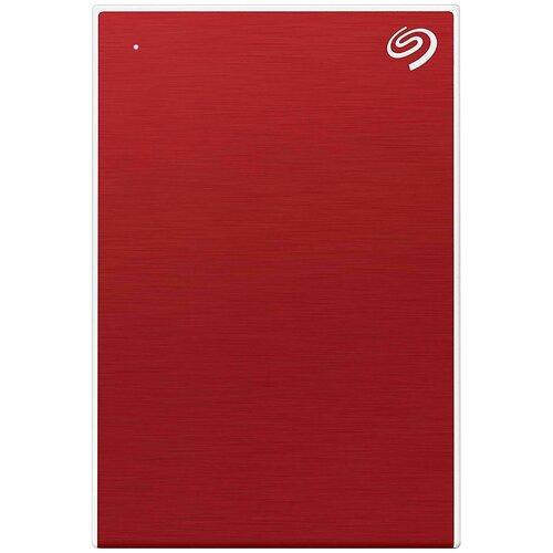 Фото - Внешний HDD Seagate Backup Plus Slim Portable Drive 1 ТБ, красный текстурный внешний hdd seagate backup plus hub 10 тб черный