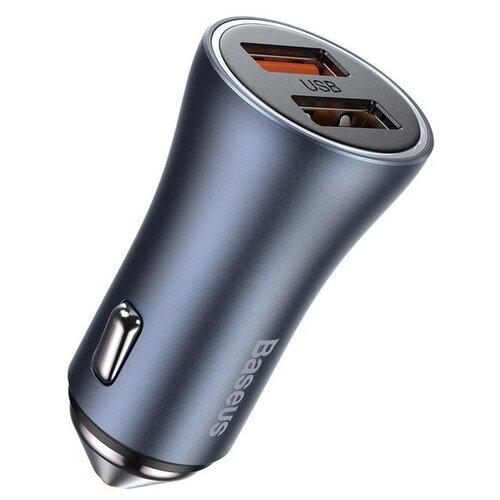 Фото - Автомобильная зарядка Baseus Golden Contactor Pro Dual Quick Charger Car Charger U U 40W Темно-серый CCJD-A0G автомобильная зарядка baseus small rocket qc3 0 dual usb car charger ccall rk01 rk02 черный