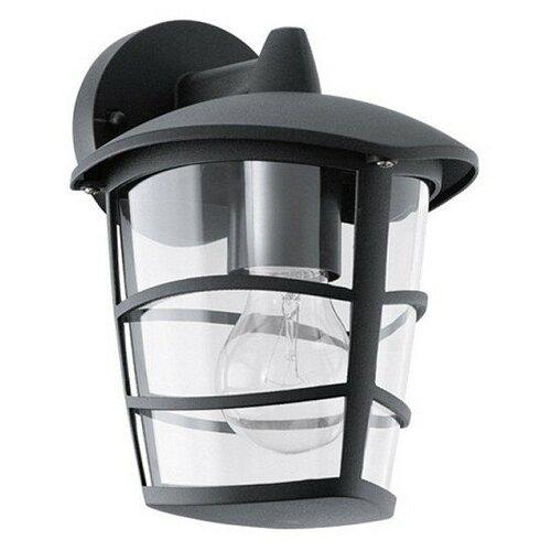Eglo Светильник уличный Aloria 93098, E27, 60 Вт, цвет арматуры: черный, цвет плафона бесцветный светильник eglo obregon 95384 e27 60 вт