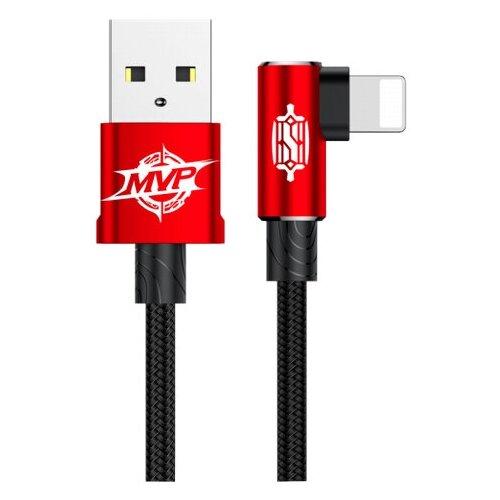 Кабель Baseus MVP Elbow USB - Lightning (CALMVP) 1 м, красный кабель baseus couple magnetic lightning usb calfd 1 м синий красный