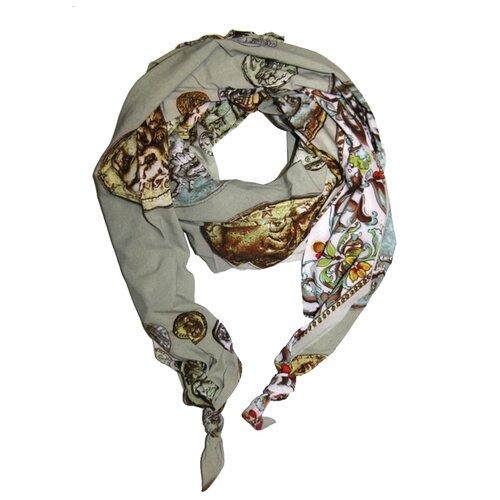 Двойной шарф-долька Оланж Ассорти серия Апрель с узелками dolka-шелк-z-193