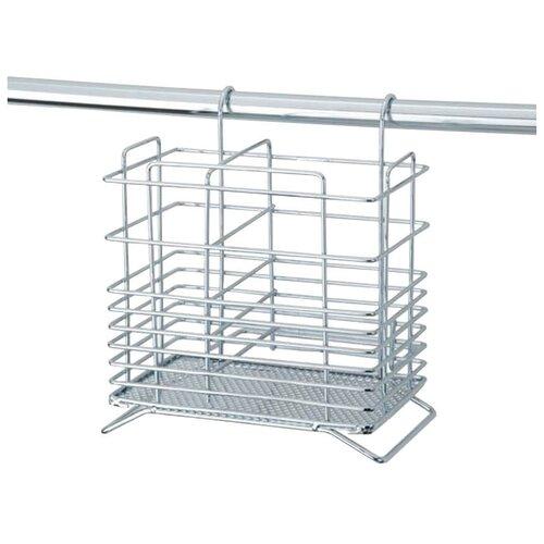 Фото - Контейнер для столовых приборов Esprado Platinos 0011617E215, 16х14.5х17.5 см сушилка для посуды esprado platinos 0024222e212 42 5х43х22 5 см