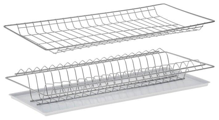 Комплект посудосушителей для шкафа 60 см с поддоном 565х256 (хром) 1141378 — купить по выгодной цене на Яндекс.Маркете