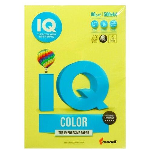 Фото - Бумага цветная А4 500л IQ COLOR, 80г/м2, желтый, ZG34 1520958 бумага цветная а4 500л iq color 80г м2 желтый zg34 1520958