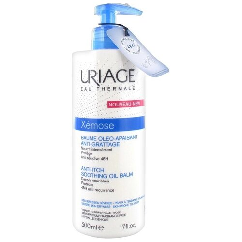 Бальзам для тела Uriage Xemose липидовостанавливающий против раздражений кожи лица и тела, 500 мл