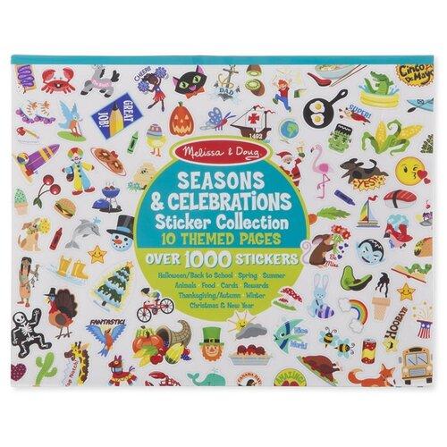 Купить Творчество Набор стикеров Времена года и праздники Melissa Doug 4215, Melissa & Doug, Наклейки