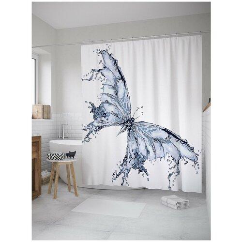 Фото - Штора для ванной JoyArty Водяная бабочка 180х200 (sc-11009) штора для ванной joyarty прыгучая бабочка 180х200 sc 16368