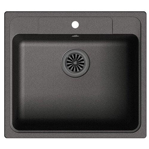 Фото - Врезная кухонная мойка 57 см Ewigstein Elegant 60 черный мойка кухонная ewigstein elegant e w90kf шоколад