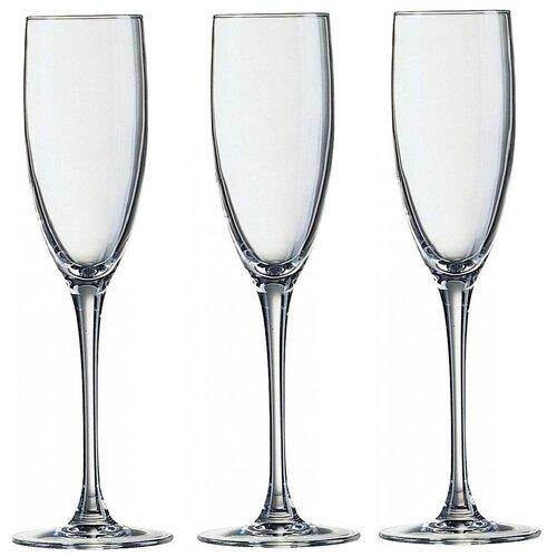 Фото - Luminarc Набор фужеров для шампанского Signature 3 шт 170 мл J9756 luminarc набор фужеров для шампанского signature 3 шт 170 мл j9756
