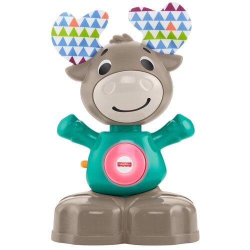 Интерактивная развивающая игрушка Fisher-Price Музыкальный лось (GJB21), серый/голубой недорого