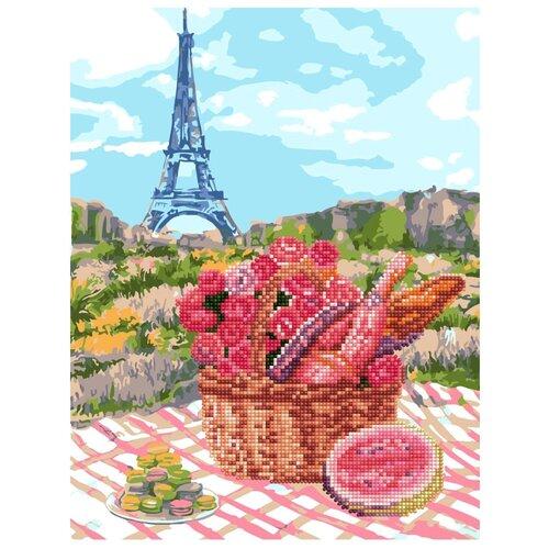 Школа талантов картина по номерам со стразами Пикник в Париже 30x40 см (4012438)
