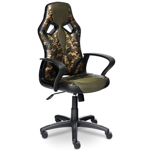 Фото - Компьютерное кресло TetChair Runner Military игровое, обивка: текстиль/искусственная кожа, цвет: хаки/черный компьютерное кресло tetchair багги обивка текстиль искусственная кожа цвет черный серый