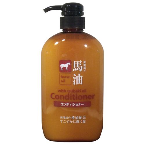 KUMANO кондиционер Horse Oil with Tsubaki Oil с лошадиным маслом для поврежденных и ломких волос, 600 мл