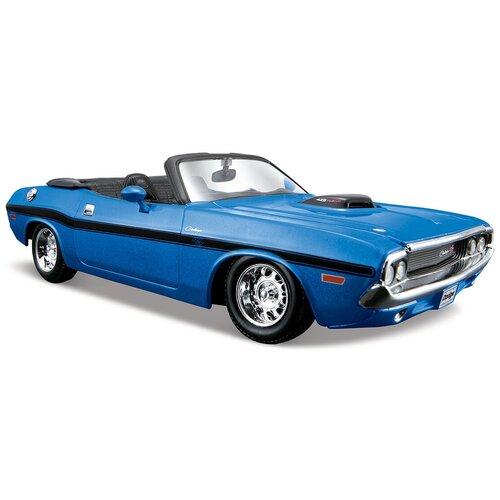 Фото - Легковой автомобиль Maisto Dodge Challenger R/T Convertible 1970 (31264) 1:24, синий lego lego speed champions mopar dodge srt dragster and 1970 dodge challenger t a