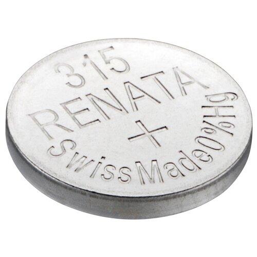 Фото - Батарейка Renata 315, 1 шт., 5 уп. батарейка renata r 384 sr41sw 1 шт