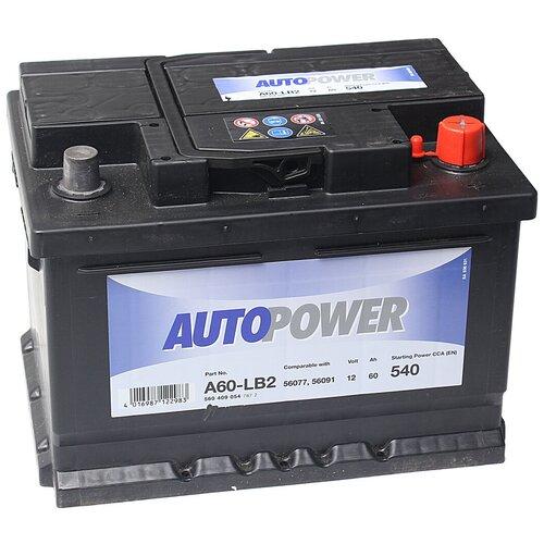 Автомобильный аккумулятор Autopower A60-LB2