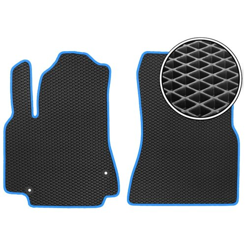 Комплект передних автомобильных ковриков ЕВА Skoda Karoq 2017 - наст. время (синий кант) ViceCar
