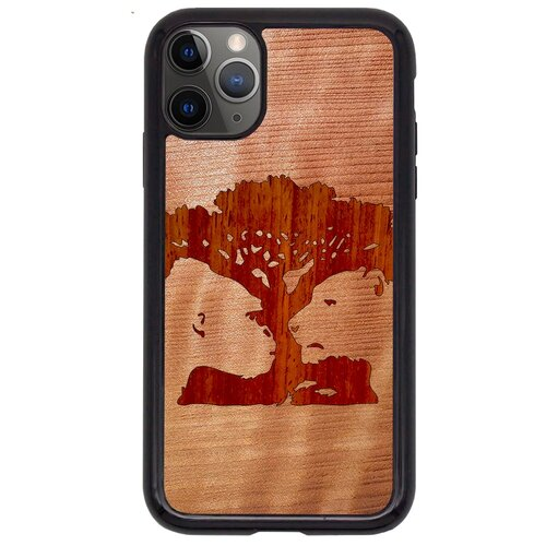 """""""Чехол T&C для iPhone 11 Pro (айфон 11 про) Silicone Wooden Case Wild series Магическое дерево (Секвойа - Падук)"""""""
