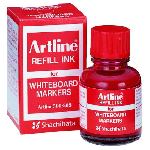 Чернила пигментные стираемые для маркеров для магнитной доски Artline ESK50, красные
