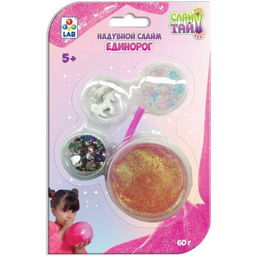 Купить Лизун 1 TOY Слайм тайм Единорог Т17639 розовый, Игрушки-антистресс