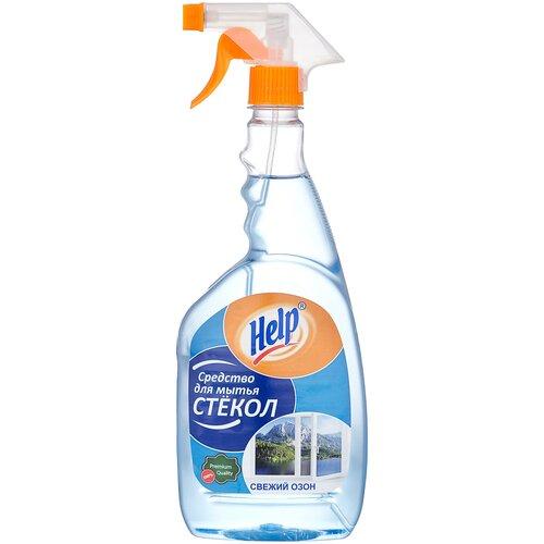 Спрей Help Свежий озон для мытья стекол (триггер), 750 мл средство для чистки стекла help свежий озон 5 л