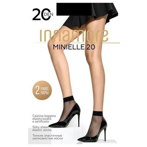 Капроновые носки Innamore Minielle 20, 2 пары, размер UNI, nero