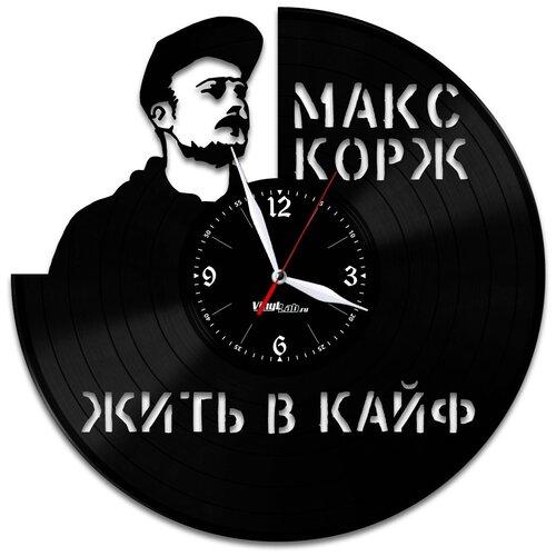 Часы из виниловой пластинки (c) VinylLab Макс Корж