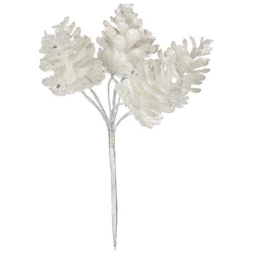 Елочная игрушка Lefard 535-205/535-206/535-207, белый, 13 см