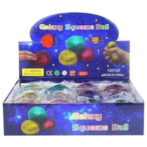 Игрушка-мялка Junfa toys мяч с глиттером