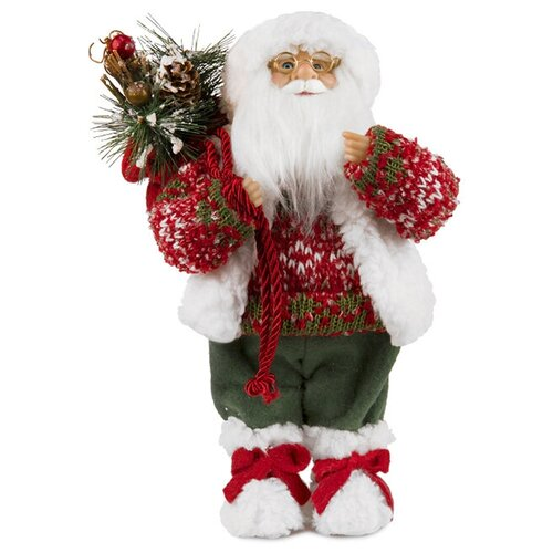 Фигурка Maxitoys Дед Мороз в свитере и шапке 32 см красный фигурка maxitoys дед мороз в свитере со снежинкой и лыжами 32 см белый