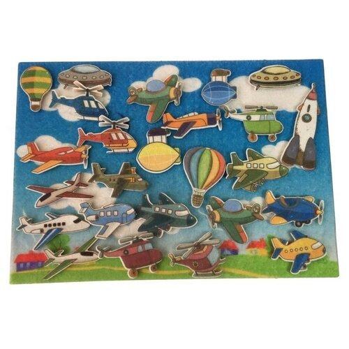 Купить Развивающая игра из фетра на липучках Самолеты , Веселые липучки, Развивающие коврики