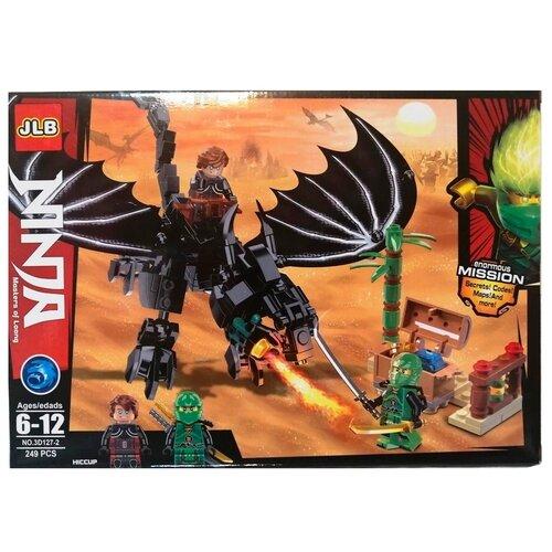 Купить Конструктор JLB Ninja 3D127-2 Черный Дракон, Конструкторы