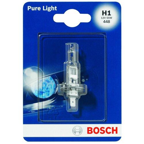 Лампа автомобильная галогенная Bosch Pure Light 1987301005 H1 12V 55W 1 шт.