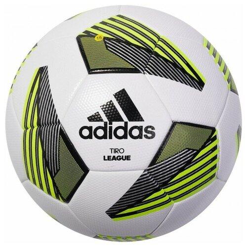 мяч футбольный adidas conext19 tcpt dn8636 белый желтый оранжевый размер 5 Мяч футбольный Adidas Tiro Lge Tsbe арт.FS0369 р.5