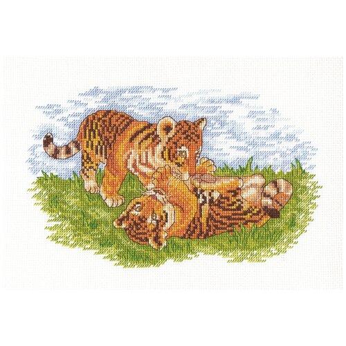 Набор для вышивания KLART Тигрята 26x16 см
