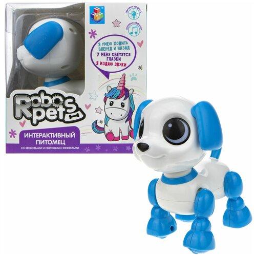 Фото - Робот 1 TOY Robo Pets Робо-щенок mini голубой робот 1 toy robo pets котёнок белый голубой