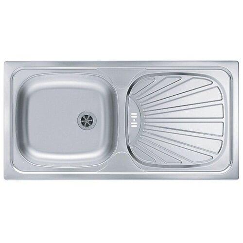 Врезная кухонная мойка 86 см ALVEUS Basic 80 нержавеющая сталь/satin кухонная мойка alveus basic 130 1008825 нержавеющая сталь