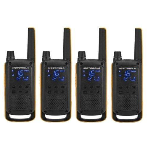 Фото - Комплект раций Motorola Talkabout T82 Extreme Quad желтый/черный комплект раций motorola talkabout t82 extreme 16кан до 10км компл 2шт аккум черный оранжевый mt1