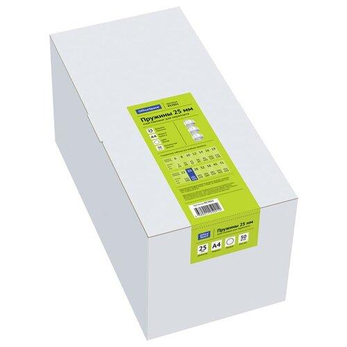 Пружина OfficeSpace пластиковые 25 мм белый 50 шт.