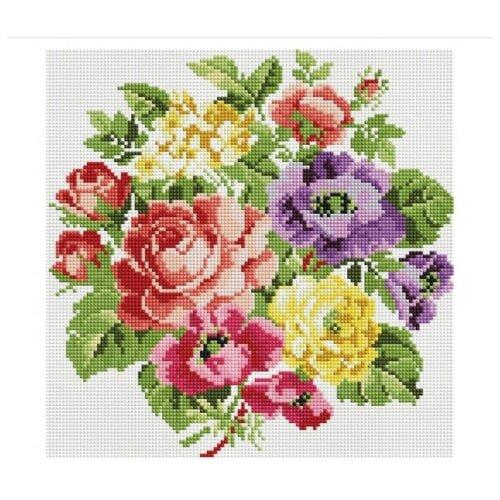 Мозаичная картина на подрамнике Вальс цветов