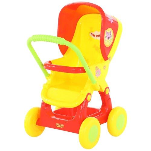 Фото - Прогулочная коляска Полесье Три кота №2 71460 красный/желтый тарелки три кота желтый 7 18см 6шт