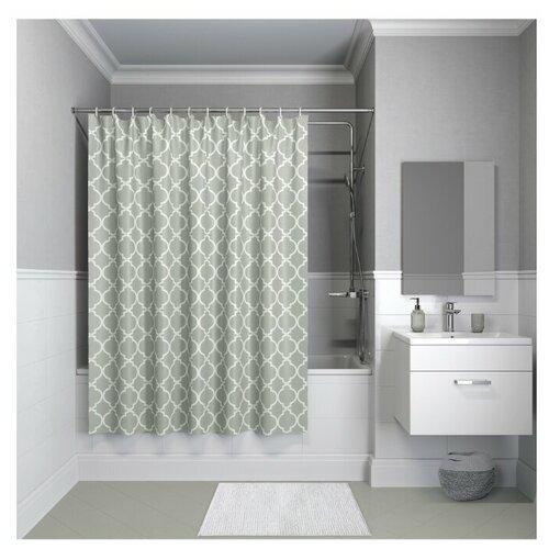 Фото - Штора для ванной IDDIS B10P218i11 / B09P218i11 180x200 серый штора для ванной iddis 680p18ri11 180x200 зеленый черный