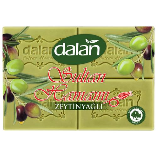 Купить Банное мыло Dalan Sultan Hamami оливковое, упаковка 4 шт Х 175 гр.
