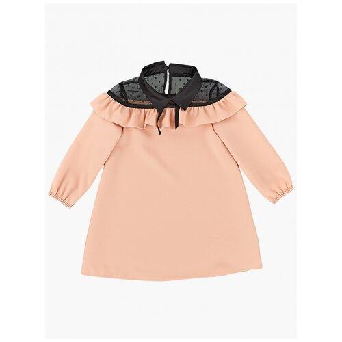 Купить Платье Mini Maxi, 6900, цвет кремовый/розовый/черный, размер 110, Платья и сарафаны