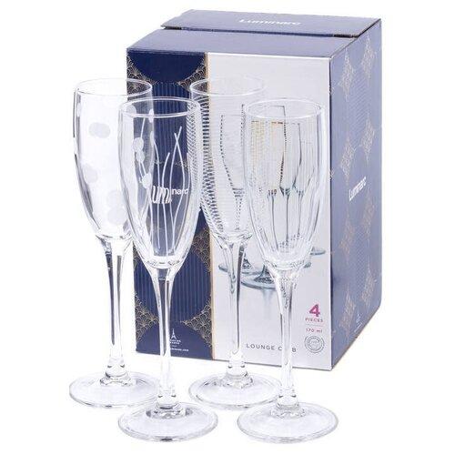 Фото - Luminarc Набор фужеров для шампанского Lounge Club 4 шт 170 мл прозрачный luminarc набор фужеров для шампанского signature 3 шт 170 мл j9756